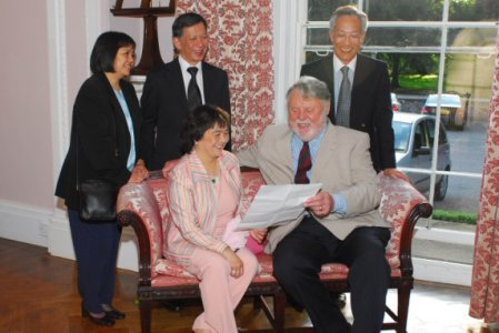 Terry Waite, with Wai Yee Hong owners