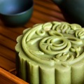 Mooncake and tea cup