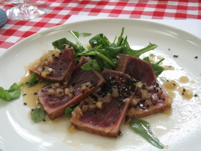 Seared Tuna with Yuzu Ponzu & Sesame Dressing