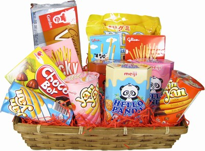 Oriental Something Sweet Snacks Hamper