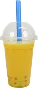 Mango Milk Tea + Passionfruit Popping Bubbles