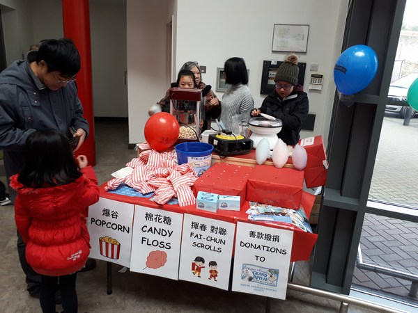Jenny Fundraising at Chinese New Year